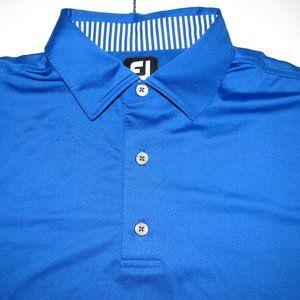 Footjoy Blue Golf SS Polo Shirt mens Large